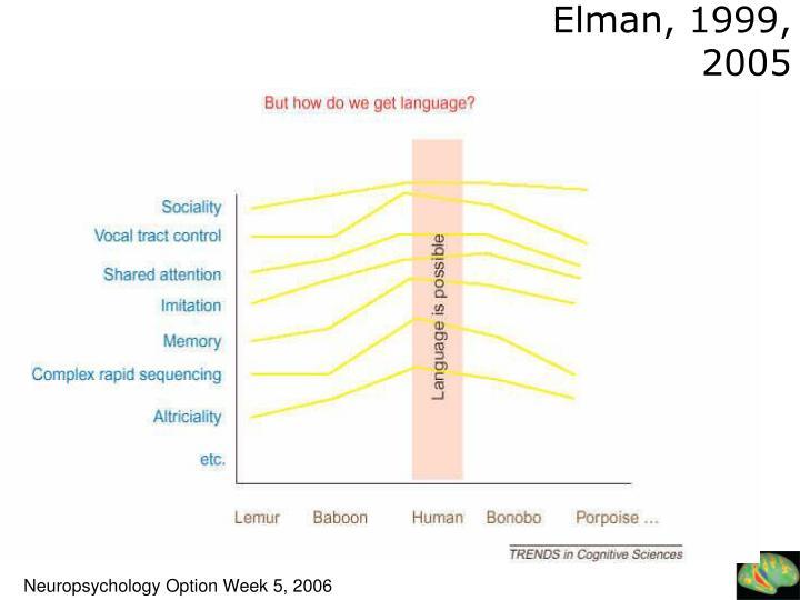 Elman, 1999, 2005