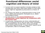 functional differences social cognition and theory of mind1