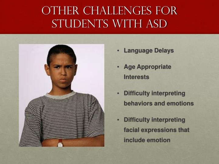 Other Challenges for Students with ASD