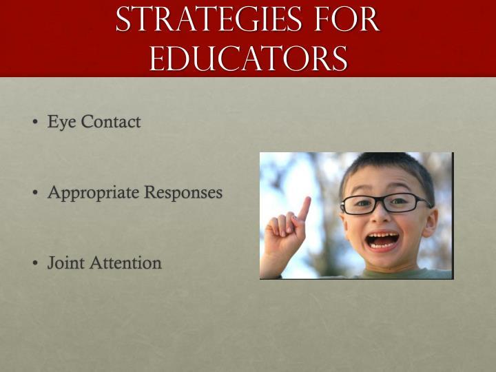 Strategies for Educators