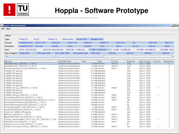 Hoppla - Software Prototype