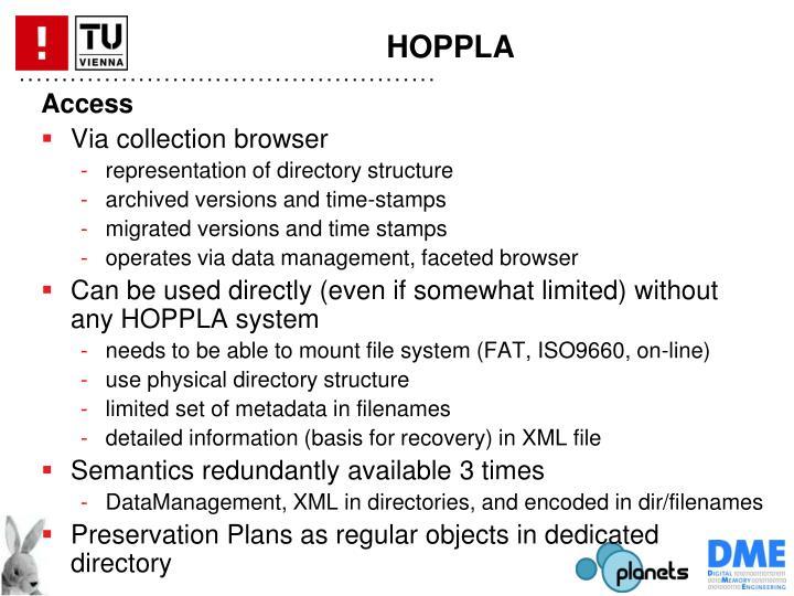 HOPPLA