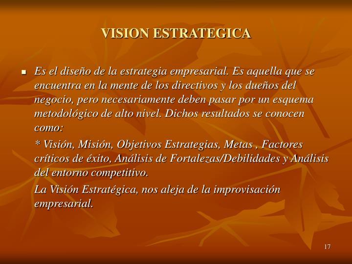 VISION ESTRATEGICA