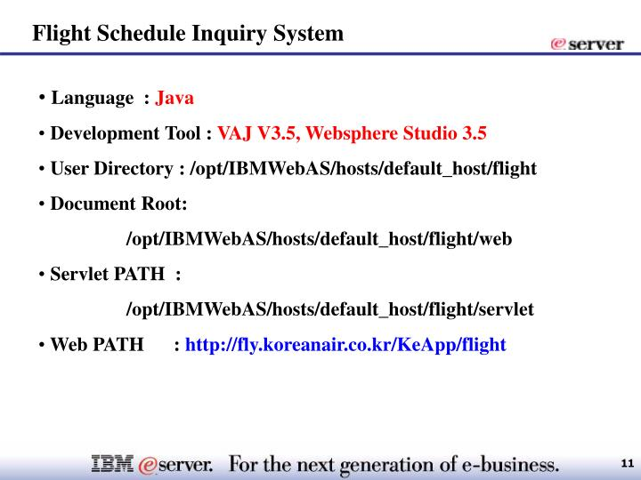 Flight Schedule Inquiry System