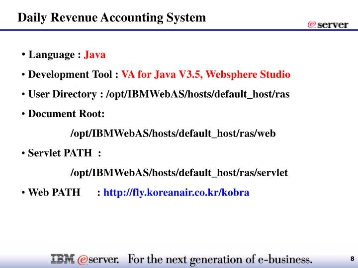 Daily Revenue Accounting System