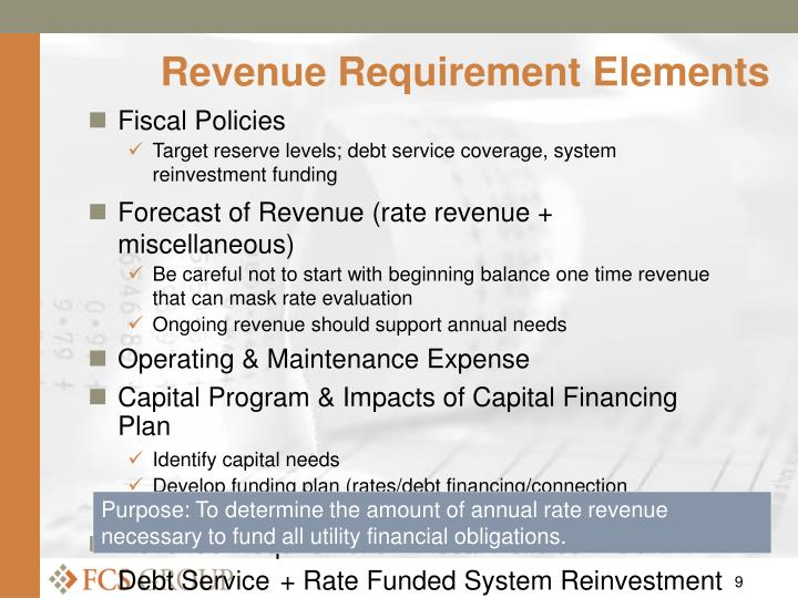 Revenue Requirement Elements