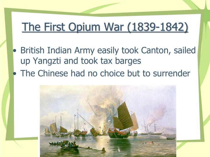 account of the opium war of 1839
