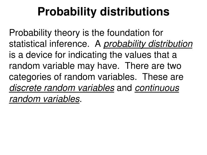 Probability distributions