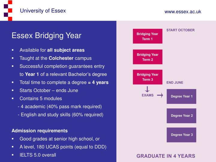 Essex Bridging Year