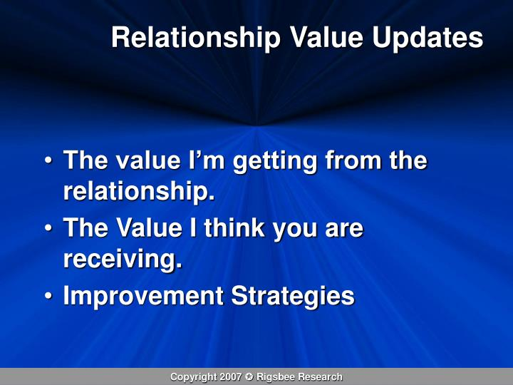 Relationship Value Updates