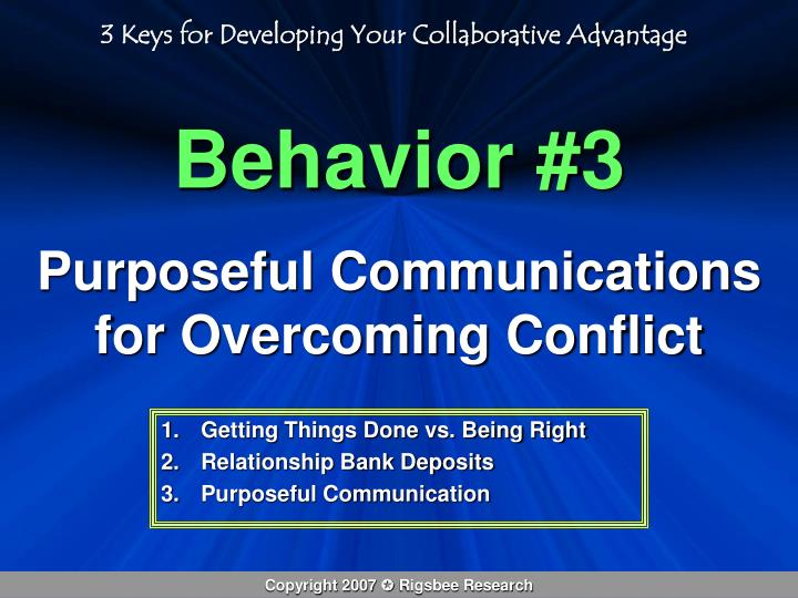 3 Keys for Developing Your Collaborative Advantage