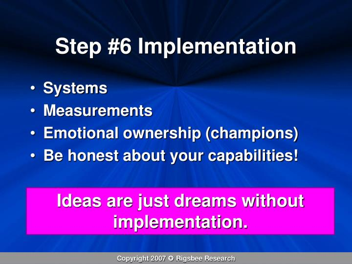 Step #6 Implementation