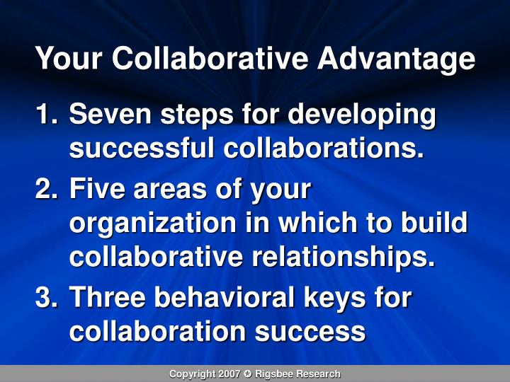 Your Collaborative Advantage