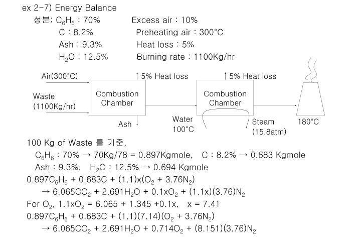 ex 2-7) Energy Balance