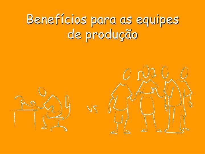 Benefícios para as equipes de produção