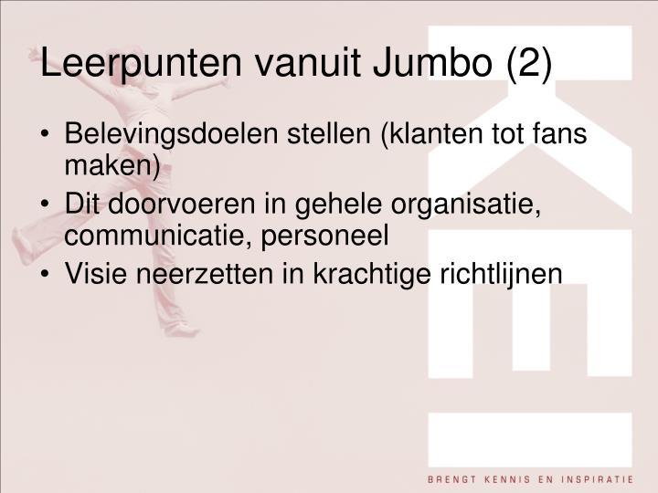 Leerpunten vanuit Jumbo (2)