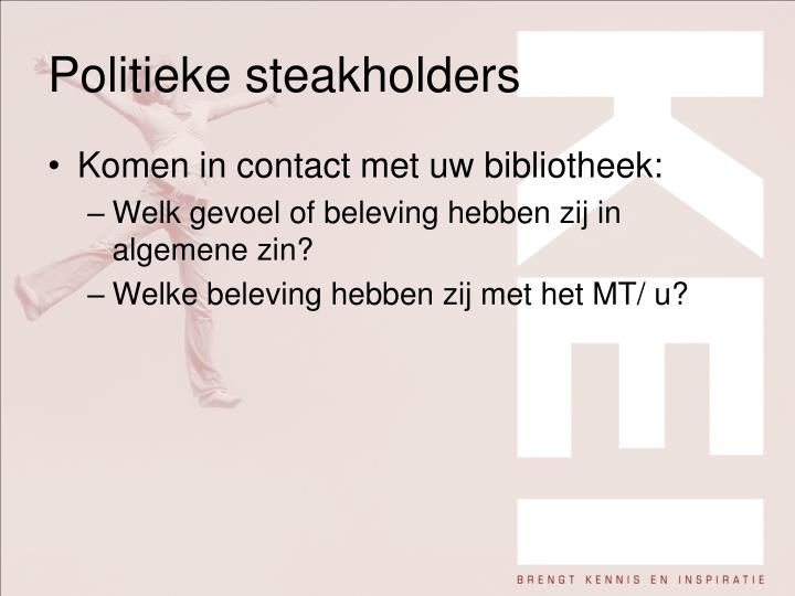 Politieke steakholders