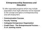 entrepreneurship awareness and education