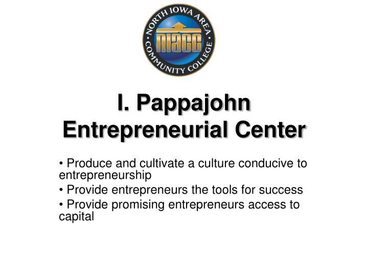 I. Pappajohn