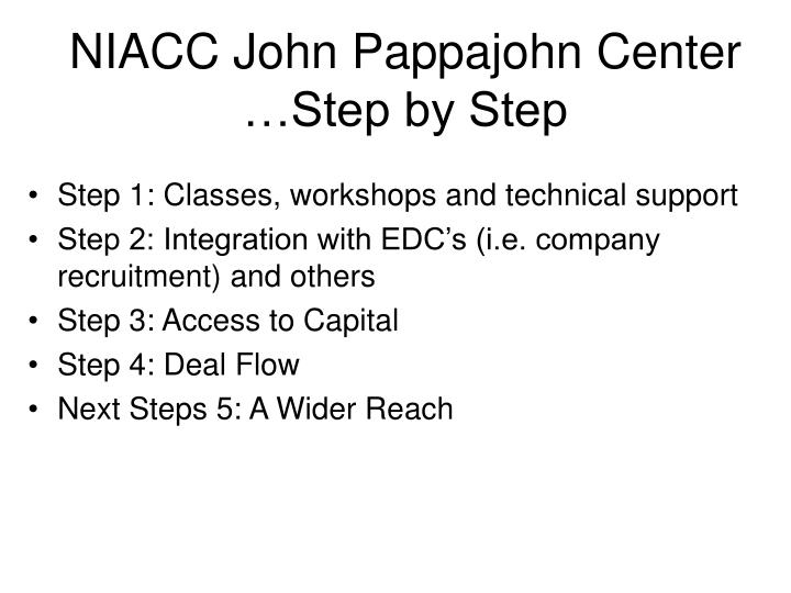 NIACC John Pappajohn Center