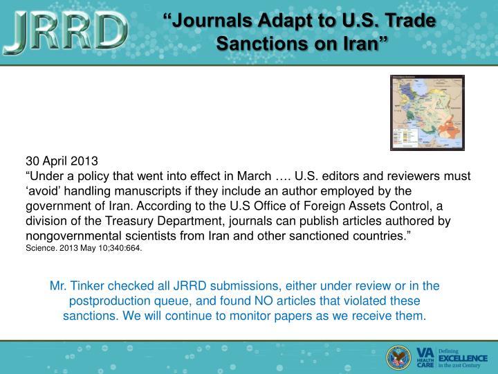 """Journals Adapt to U.S. Trade"