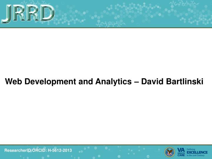 Web Development and Analytics – David Bartlinski