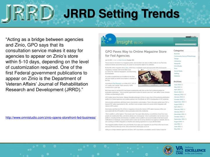 JRRD Setting Trends