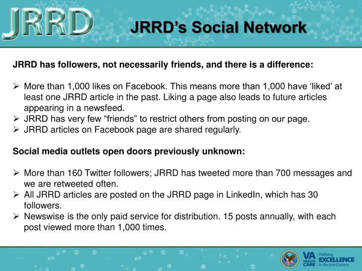 JRRD's Social Network