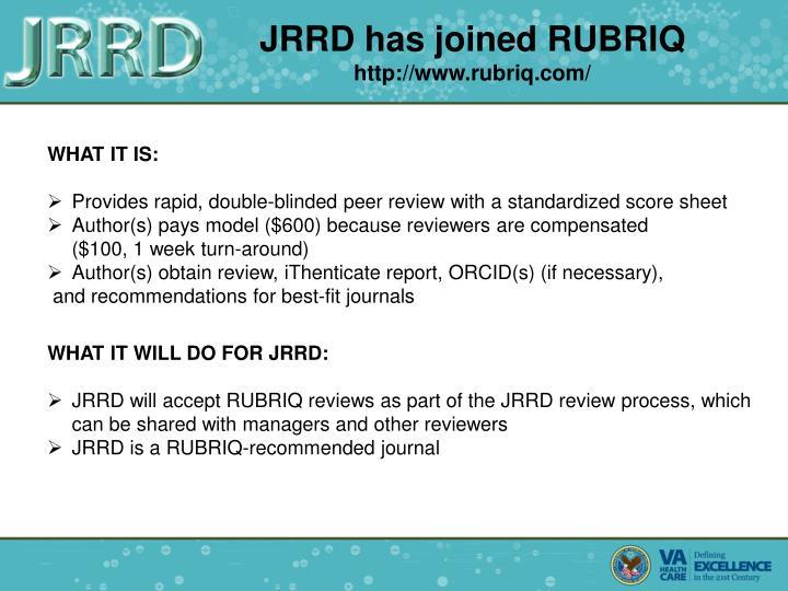 JRRD has joined RUBRIQ