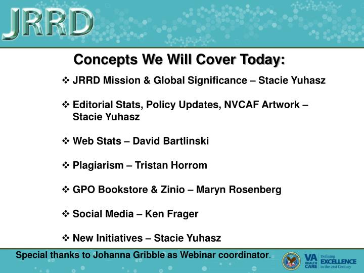 Concepts We Will Cover Today: