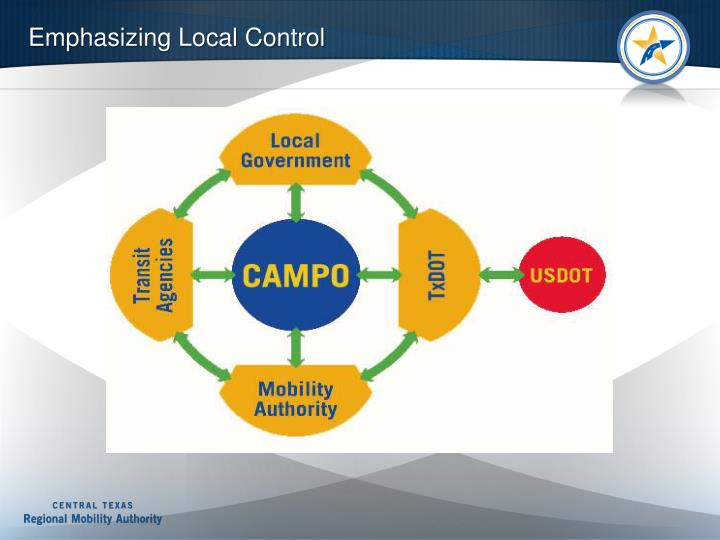 Emphasizing Local Control