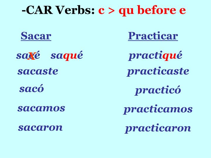 -CAR Verbs: