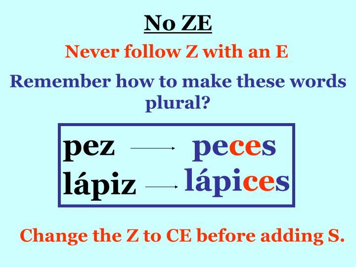 No ZE