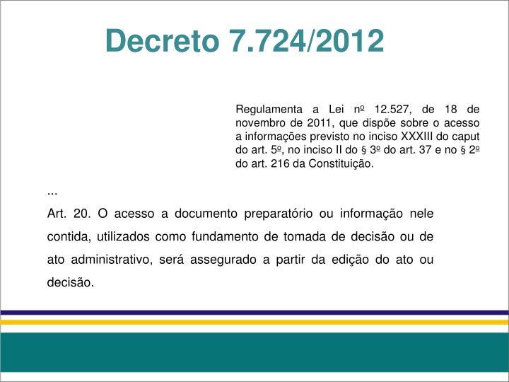 Decreto 7.724/2012