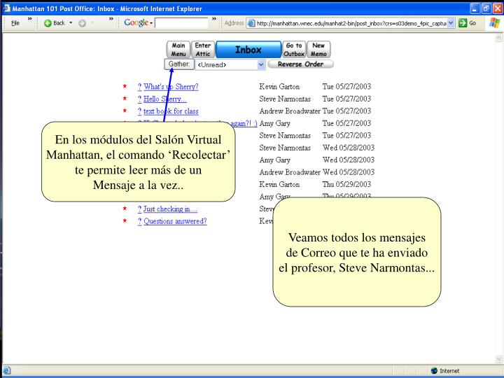 En los módulos del Salón Virtual