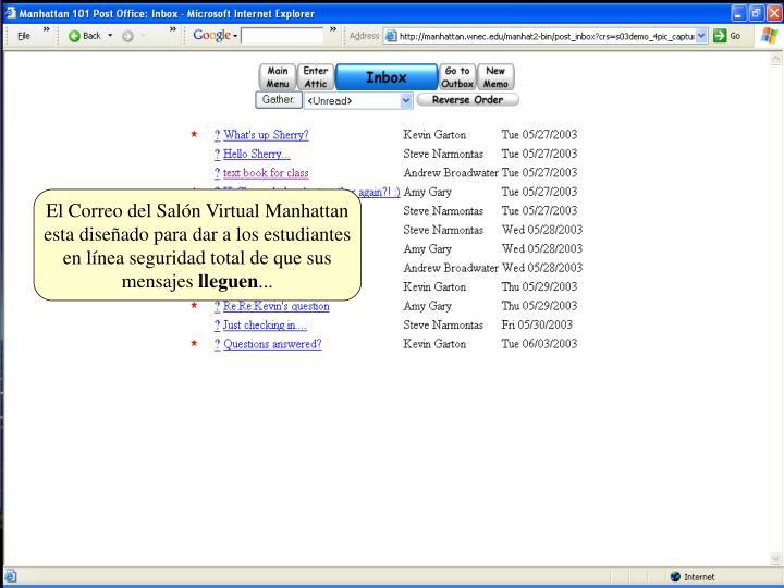 El Correo del Salón Virtual Manhattan