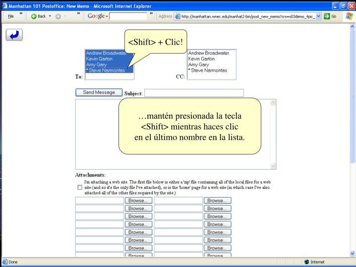 <Shift> + Clic!