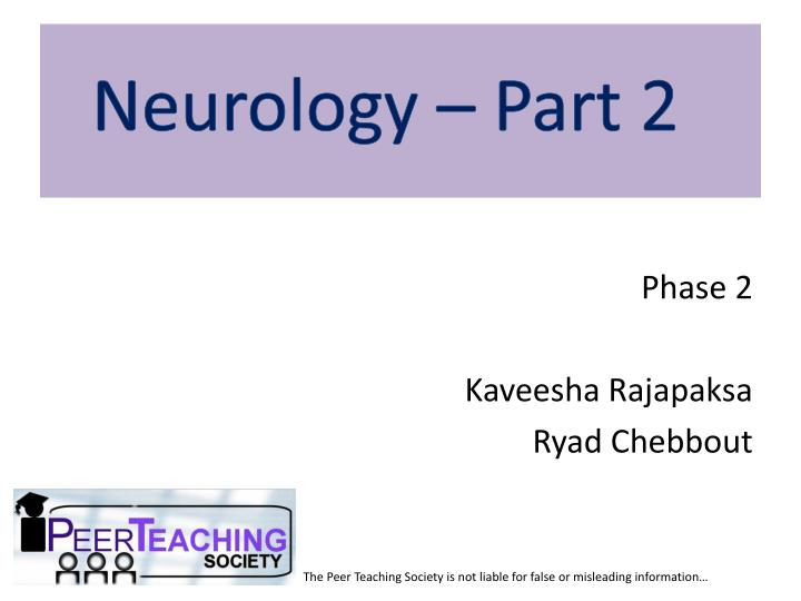 Neurology – Part 2