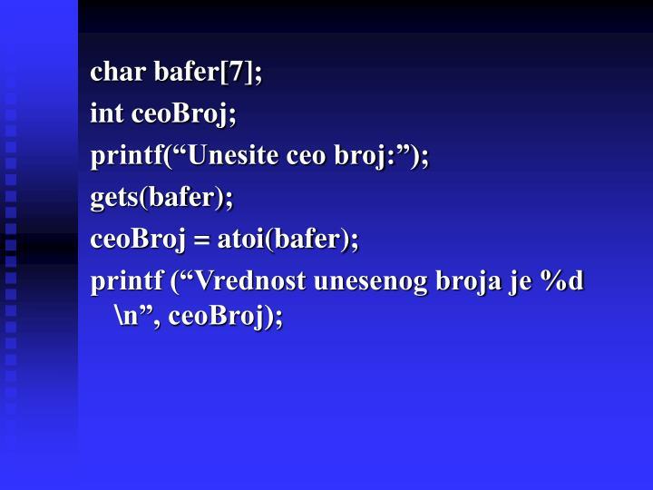 char bafer[7];