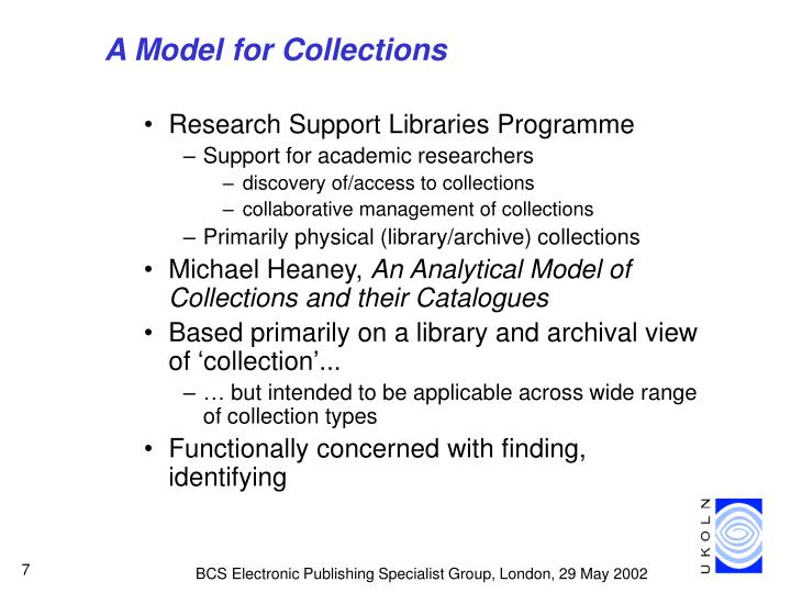 A Model for Collections