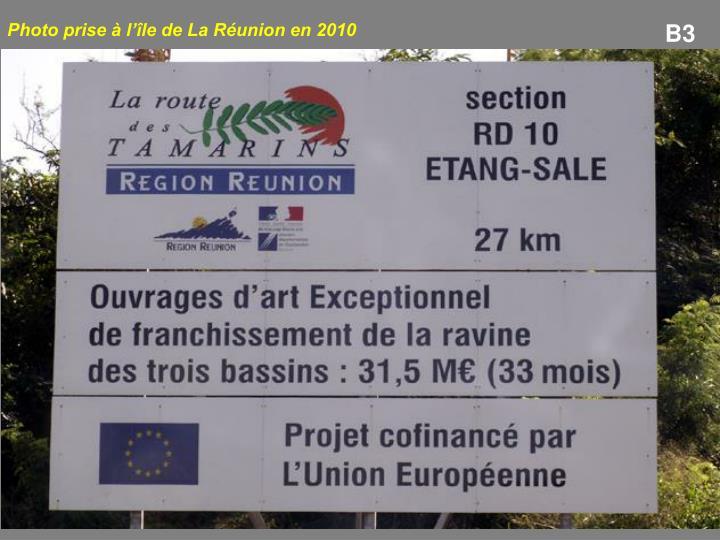 Photo prise à l'île de La Réunion en 2010