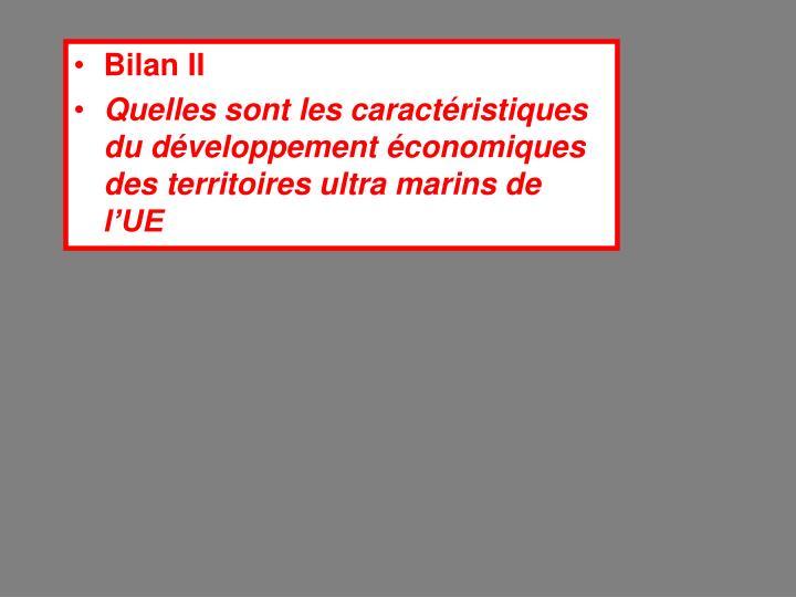 Bilan II