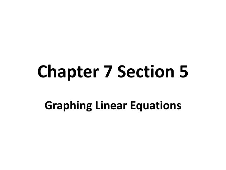 Chapter 7 section 5