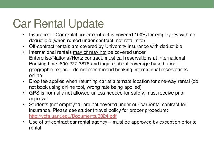 Car Rental Update