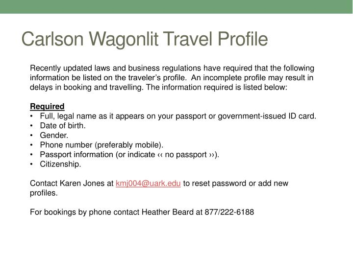 Carlson Wagonlit Travel Profile