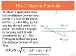 the distance formula4