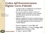 codice dell amministrazione digitale carta d identit
