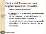 codice dell amministrazione digitale contenuti innovativi