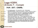 legge 4 2004 articolo 7 compiti6