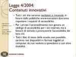 legge 4 2004 contenuti innovativi